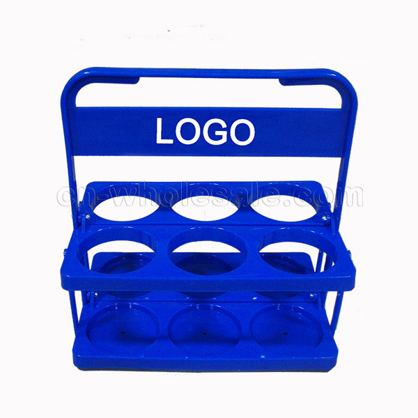 China wholesale custom logo plastic beer bottle holder,water bottle holder for 6 bottles
