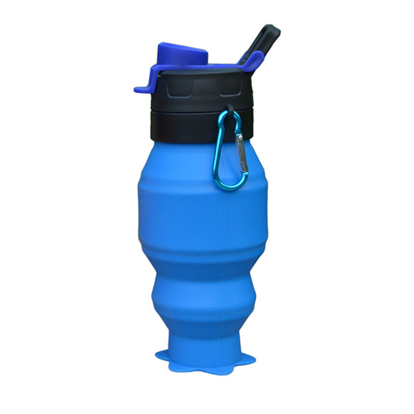 NEW product 530ML foldable silicone sport water bottle, BPA FREE silicone water bottle