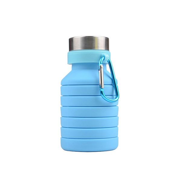 NEW product 550ML silicone foldable water bottle, BPA free sport bottle custom logo