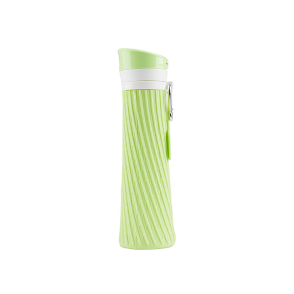 NEW product Custom 500ML silicone foldable water bottle, BPA free sport water bottle