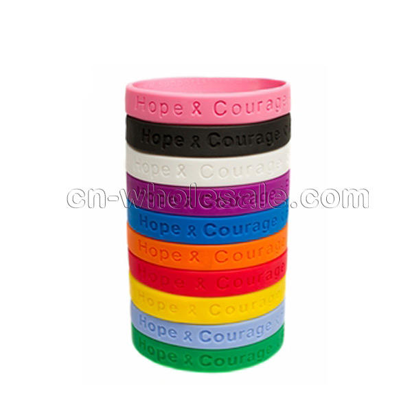 Custom Cheap promotional fitness silicone bangle, hot rubber wristband
