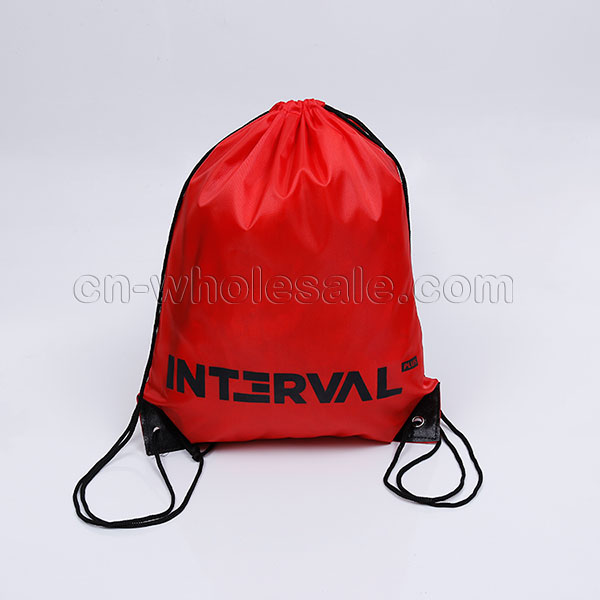 Custom Wholesale reusable cheap polyester drawstring bag
