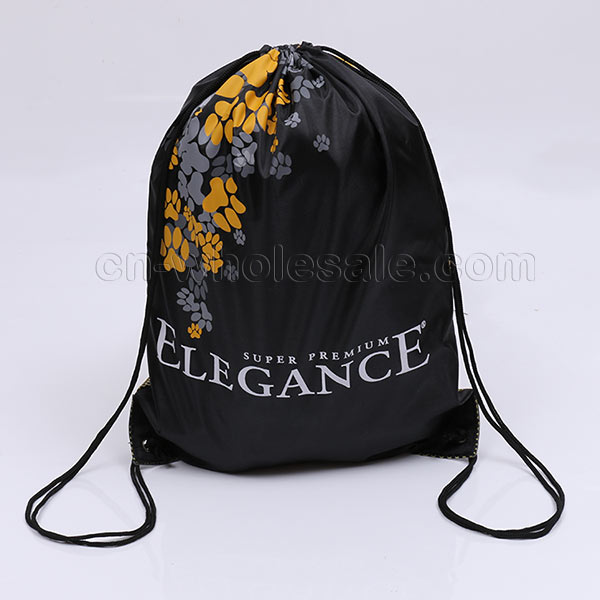 customize logo printing drawstring polyester bag