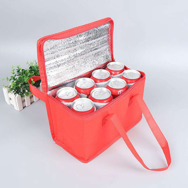 Custom non woven insulated cooler tote bag, cans cooler bag