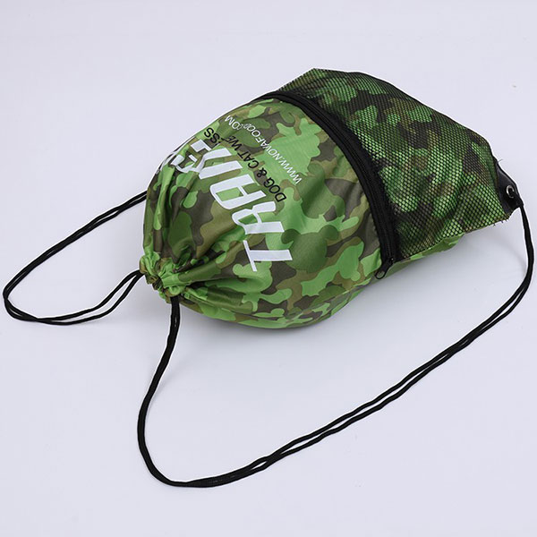 Wholesale Camouflage fabric mesh drawstring bags, custom mesh drawstring backpack