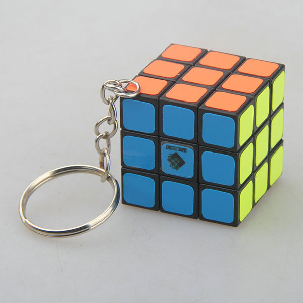 Custom cheap rubiks cube keychain from China supplier