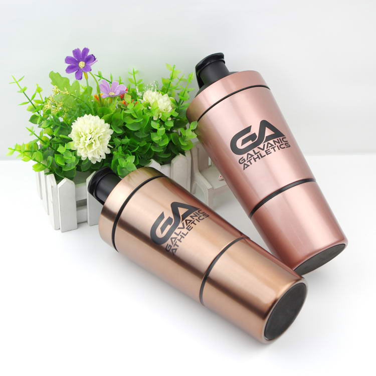 stainless steel shaker/ double layer 30oz water bottle/ cool mix protein water cup