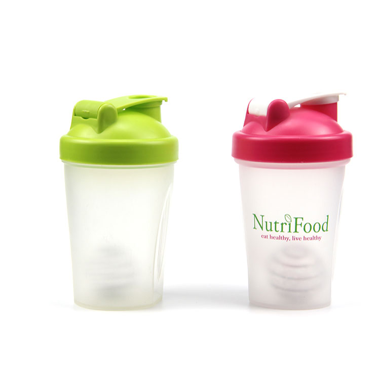 BPA free 400ml PP branded protein shakers
