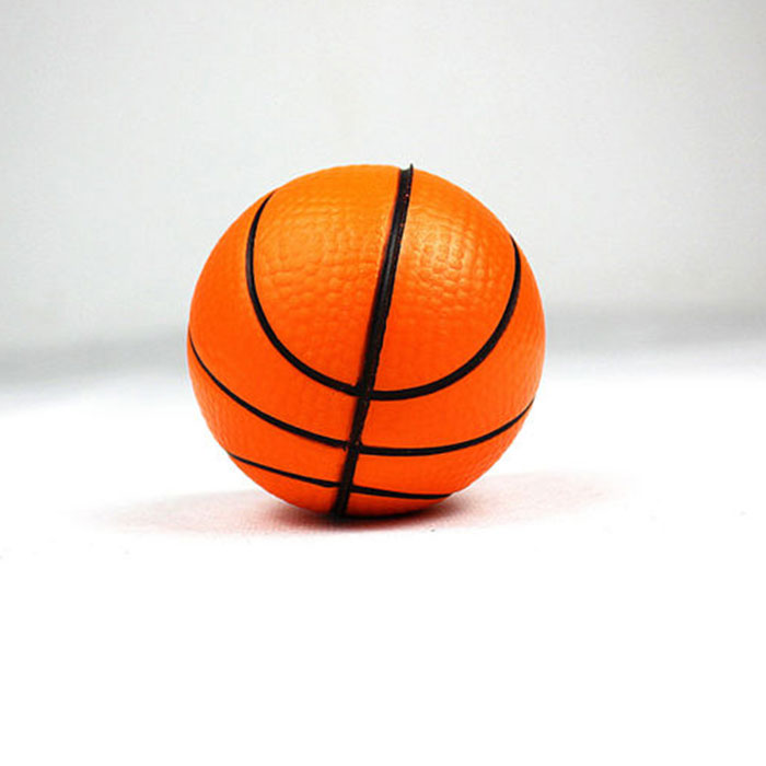 63mm PU foam stress balls for kids | custom basketball stress balls