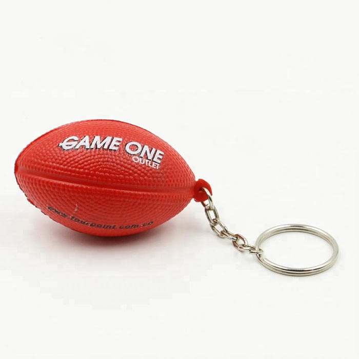 Wholesale PU Promotional American Football Keychain Stress Ball