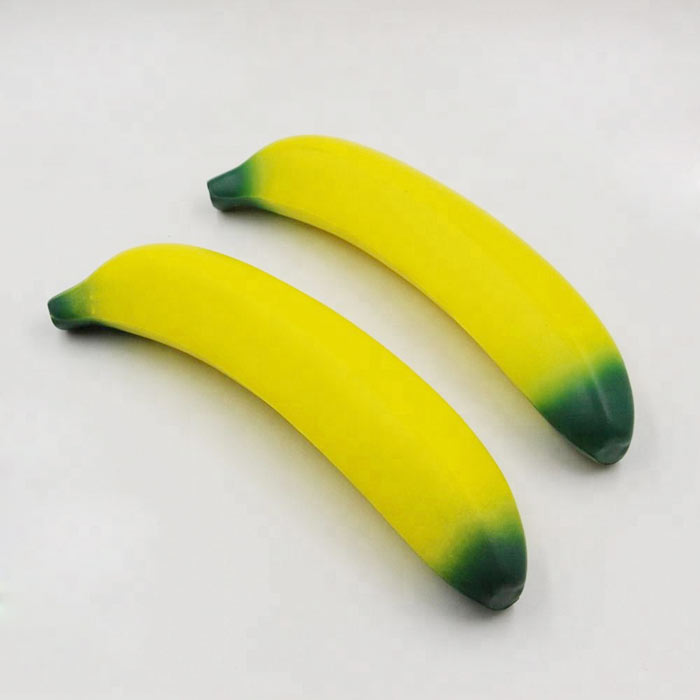 Custom PU foam soft banana shape stress ball anti stress ball for promotional gift
