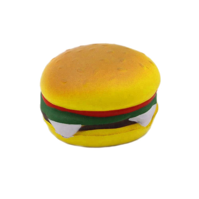 Wholesale custom novelty food shape hamburger funny stress ball foam toy