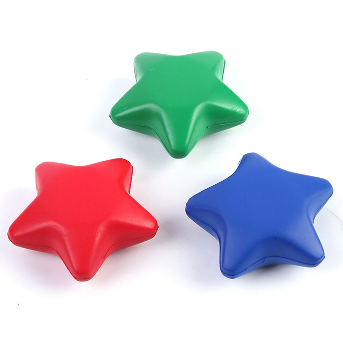 Wholesale custom pu gift star stress balls promotional stress balls for kids