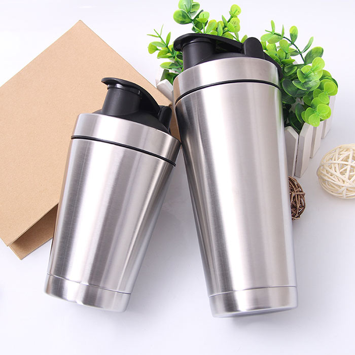China Double Wall Insulated stainless steel protein shaker bottle Suppliers